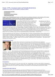 Fonds + ETFs: Investoren setzen auf ... - Börse Frankfurt