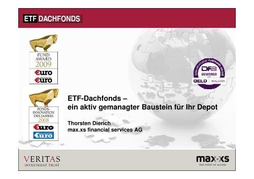 ETF-Dachfonds – ein aktiv gemanagter Baustein ... - Börse Frankfurt
