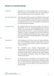 Glossar zu Investmentfonds - Börse Stuttgart
