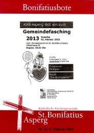 Bonibote 2/2013 - Katholische Kirchengemeinde St. Bonifatius Asperg