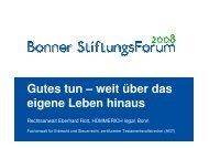 Keine Stiftung ohne passgenaues Testament - Verein für Bonner ...