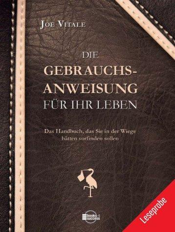 """Leseprobe """"Die Gebrauchsanweisung für Ihr Leben"""" - Buchhandel.de"""
