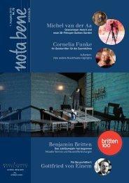 Heft 72, Frühjahr 2013 (PDF) - Boosey & Hawkes