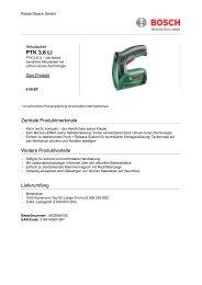 PTK 3,6 LI - Bosch