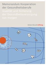 "Memorandum ""Kooperation der Gesundheitsberufe"" - Robert Bosch ..."
