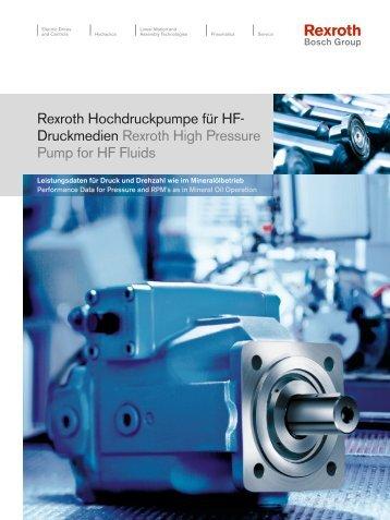 Druckmedien Rexroth High Pressure Pump for HF ... - Bosch Rexroth