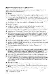 Bedingungen für die Erstellung von IV-Programmen - Bosch ...
