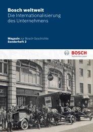Bosch weltweit Die Internationalisierung des Unternehmens