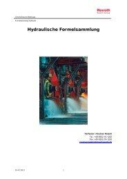 Hydraulische Formelsammlung - Bosch Rexroth
