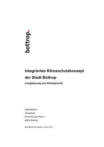 Langfassung des Integrierten Klimaschutzkonzeptes der Stadt Bottrop