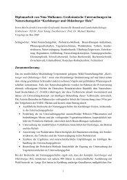 Diplomarbeit von Nina Malkomes: Geobotanische Untersuchungen ...