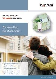 Datasheet Wohnriester - brain force