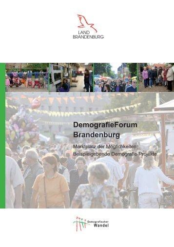 """Broschüre """"Beispielgebende Demografieprojekte"""" - Land Brandenburg"""