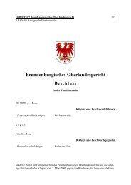 10 WF 97/07 Brandenburgisches Oberlandesgericht - Brandenburg.de