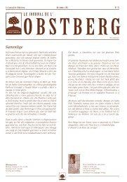 Le jOurNaL De L' - Brasserie Obstberg