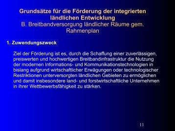 Grundsätze für die Förderung der integrierten ländlichen - Breitband ...