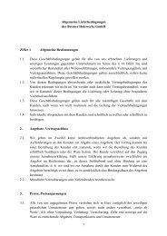 AGB´s - Bremer Holzwerke GmbH