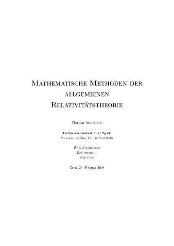 Mathematische Methoden der allgemeinen ... - AM BRG Kepler