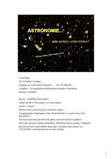 ASTRONOMIE... - AM BRG Kepler