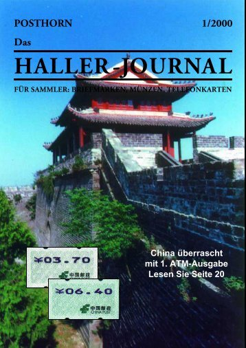 HALLER-Journal 2000 Ausgabe 1 (1.91 MB) - Briefmarken HALLER
