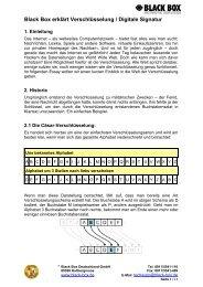 Black Box erklärt Verschlüsselung / Digitale Signatur - brielbeck.de