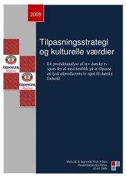 Tilpasningsstrategi og kulturelle værdier - PURE