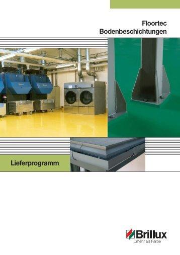 Floortec Bodenbeschichtungen Lieferprogramm - Brillux