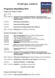 Programm Altstadtfest - Stadt Bruchköbel