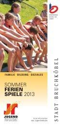 Sommerferienspieleprogramm 2013 - Stadt Bruchköbel