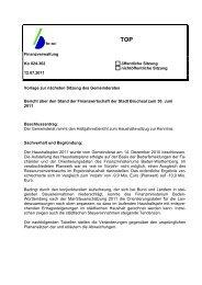 Bericht über den Stand der Finanzwirtschaft - Bruchsal