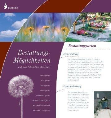 Broschüre Bestattungsmöglichkeiten - Bruchsal