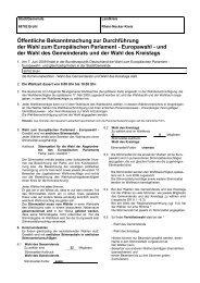 und der Wahl des Gemeinderats - Gemeinde Brühl