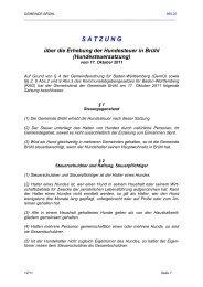 Hundesteuersatzung - Gemeinde Brühl