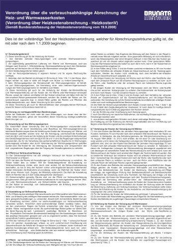 Heizkostenverordnung 2009 - BRUNATA Hamburg