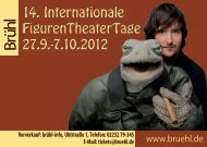 Internationale FigurenTheaterTage - Stadt Brühl
