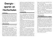 Energie sparen an Hochschulen - Bundeskoordination ...