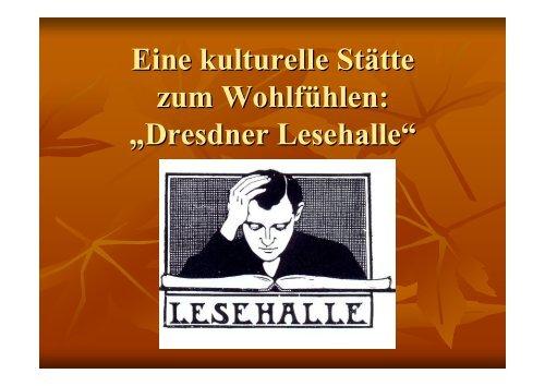 Dresdner Lesehalle - BSZ- Gesundheit.de