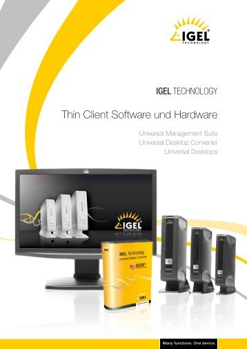 Thin Client Software und Hardware - Baumann Technologie ...