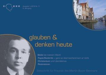 glauben & denken heute - Martin Bucer Seminar