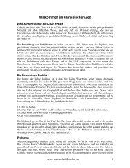 Willkommen im Chinesischen Zen - Buddhistische Gesellschaft Berlin