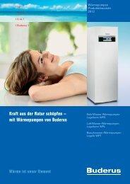 Produktübersicht Wärmepumpen_2012.pdf - Buderus