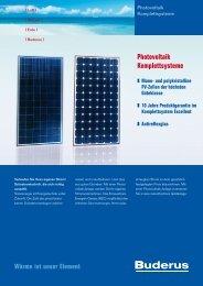 Photovoltaik Komplettsysteme - Buderus