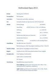 Ostfriesland Open 2013 - Budo Sport Report