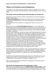 Kampfsystem Partnerübungen 20.02.2012 - Budo Sport Report