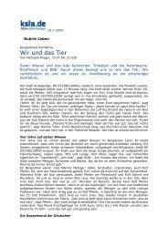 2009-07-10 Kölner Stadtanzeiger zur Bündnis-Studie