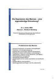 Die Depression des Mannes – eine eigenständige Erkrankung?