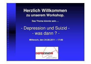 Depression und Suizid - Bündnis gegen Depression
