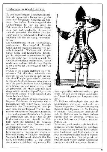 Uniformen im Wandel der Zeit 21 - Bürgergarde der Stadt Salzburg