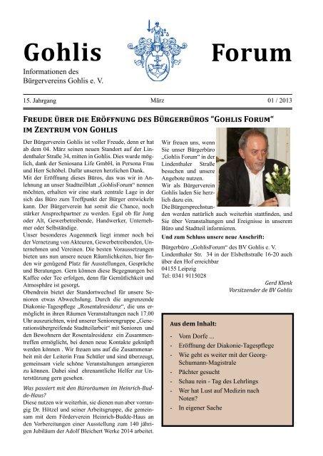 Gohlisforum 01/13 - Bürgerverein Gohlis eV