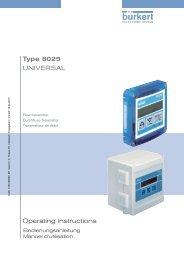 Operating Instructions Type 8025 UNIVERSAL